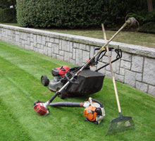 mower and rake